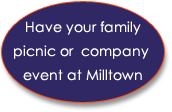 Have your family picnic or company event at Milltown